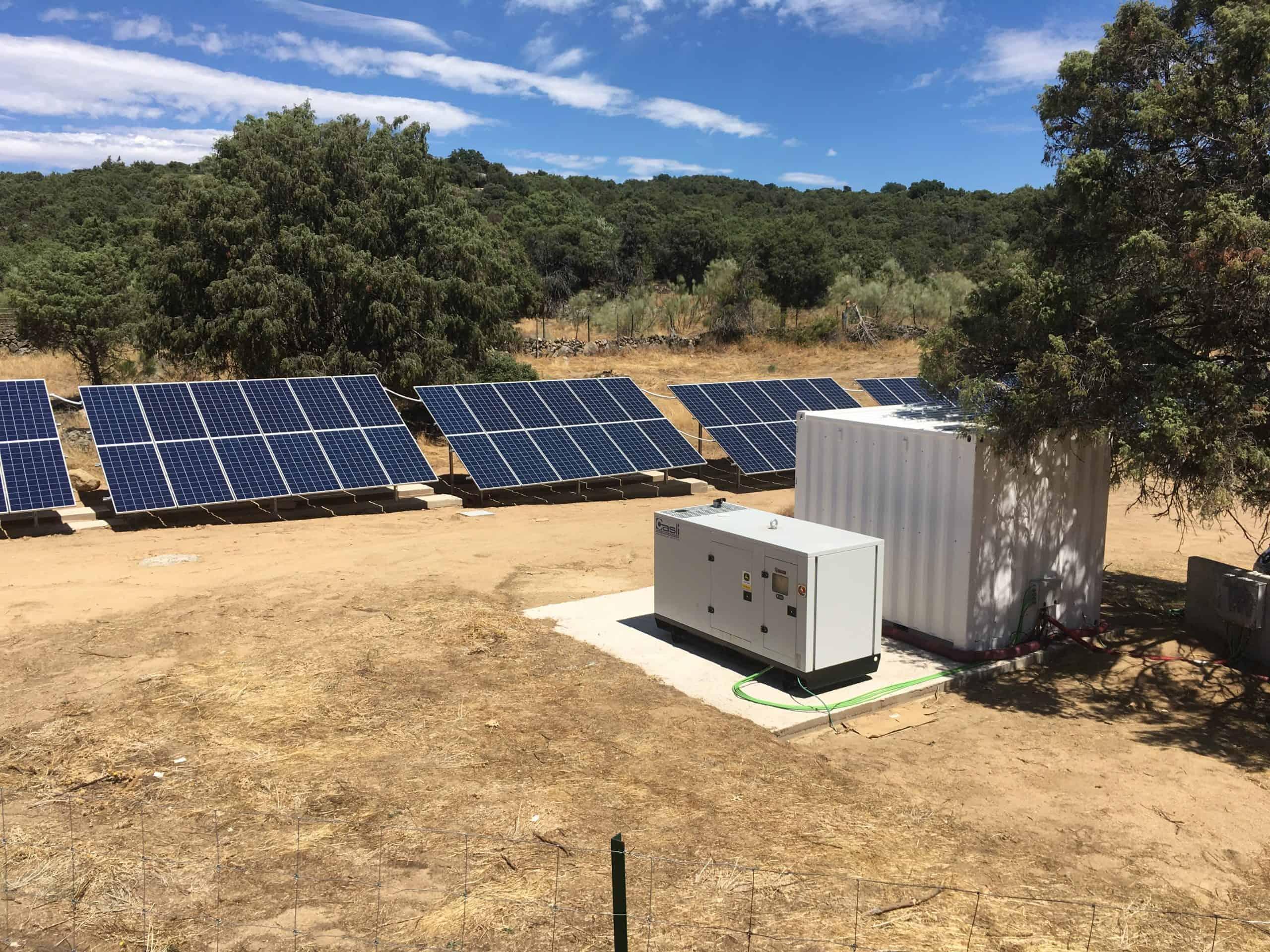 Casli Energy pone en marcha una nueva instalación fotovoltaica aislada.